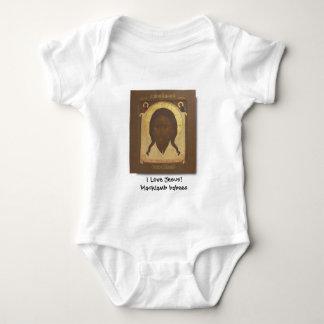 Body Para Bebê Cristo de Mandylion, eu amo Jesus! babees do