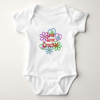 Body Para Bebê Crochet vivo do amor