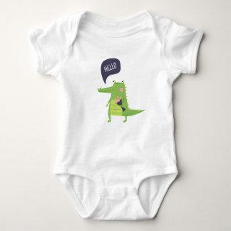 Body Para Bebê Crocodilo bonito
