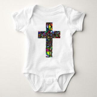 Body Para Bebê Cruz abstrata do cristo do Natal