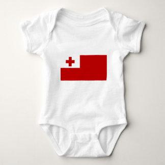 Body Para Bebê Cruz vermelha da bandeira da ilha de Tonga