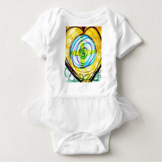Body Para Bebê Cruzes de Cartoids do Fractal e a banda espiral