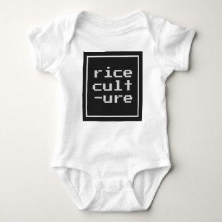 Body Para Bebê Cultura do arroz com quadro