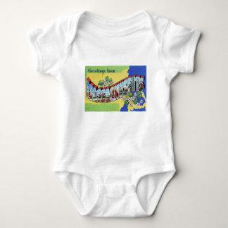 Body Para Bebê Cumprimentos de Massachusetts