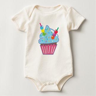 Body Para Bebê CUPCAKE azul de Havaí