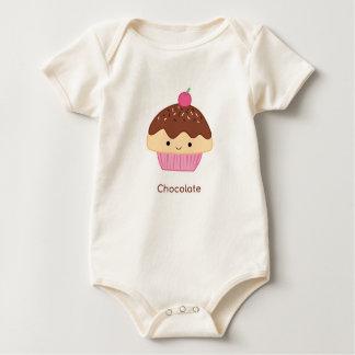 Body Para Bebê Cupcake, sabor do chocolate
