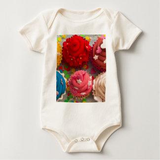 Body Para Bebê cupcakes coloridos
