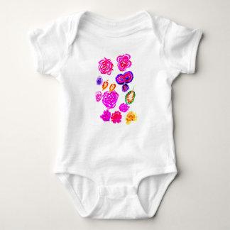 Body Para Bebê Cursos coloridos 2 das flores