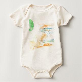 Body Para Bebê Cursos coloridos da pintura