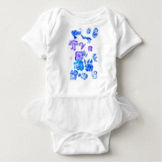 Body Para Bebê Cursos coloridos das flores