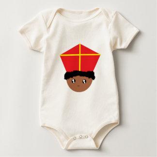 Body Para Bebê Cutieful caçoa a mitra Zwarte Piet de São Nicolau