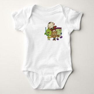 Body Para Bebê Cuties assustador