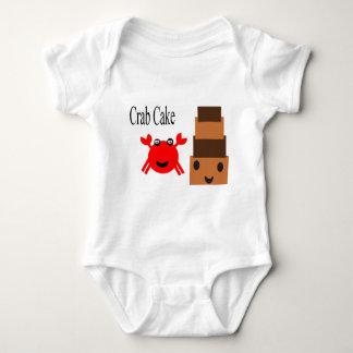 Body Para Bebê Cuttie do bolo de caranguejo