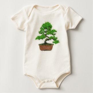 Body Para Bebê Da árvore japonesa dos bonsais do bebê Bodysuit