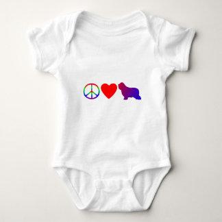 Body Para Bebê Da criança farpada dos Collies do amor da paz