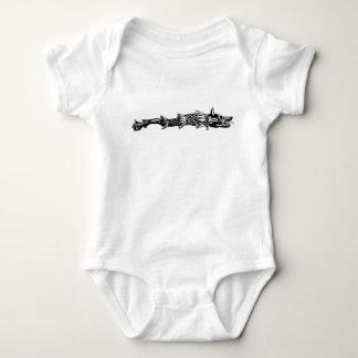 Body Para Bebê dacs do símbolo de romania da história da bandeira