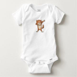 Body Para Bebê Dança bonito de Dabber do gato da solha