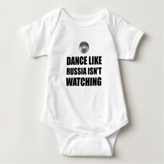 Body Para Bebê Dança como Rússia que não olha