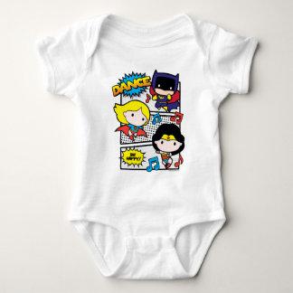 Body Para Bebê Dança dos heróis de Chibi