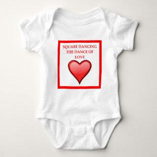 Body Para Bebê dança quadrada