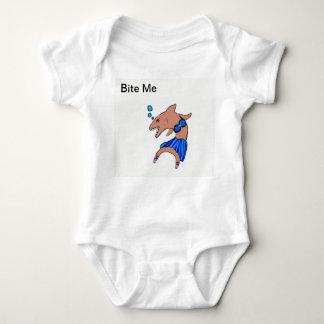 Body Para Bebê Dançarino do tubarão