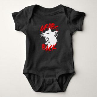 Body Para Bebê Das garras Bodysuit escuro do bebê para trás