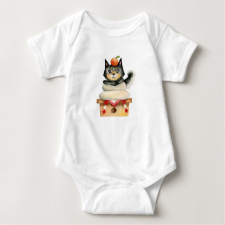 """Body Para Bebê De """"ilustração da aguarela do cão Mochi Shiba"""""""