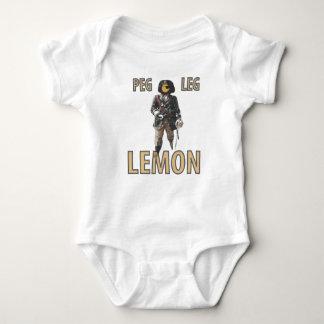 """Body Para Bebê De """"limão do pé Peg"""" do pirata"""