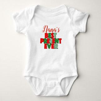 Body Para Bebê De Nana o presente melhor Natal sempre vermelho e