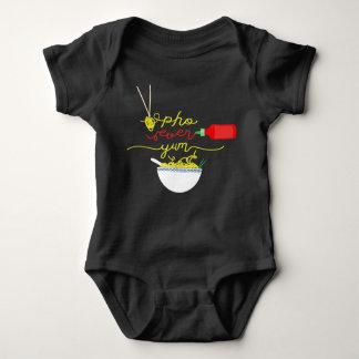 Body Para Bebê De Pho ligação em ponte de BEBÊ do molho picante