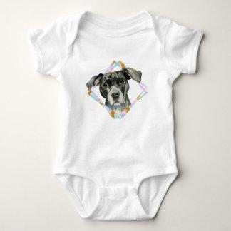 """Body Para Bebê De """"pintura da aguarela do cão do pitbull todas as"""