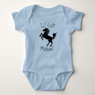 """Body Para Bebê De """"potro personalizado Li'l"""" com elevação do"""