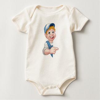 Body Para Bebê Decorador do jardineiro do canalizador do mecânico
