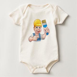 Body Para Bebê Decorador do pintor do trabalhador manual com