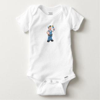 Body Para Bebê Decorador do pintor do trabalhador manual que