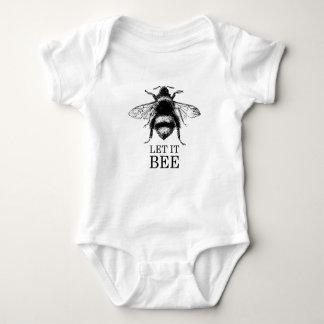 Body Para Bebê Deixado o a natureza do vintage da abelha Bumble a