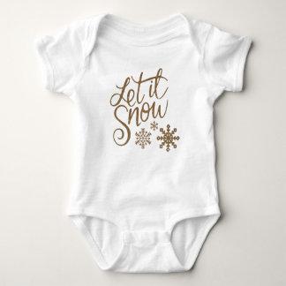 Body Para Bebê Deixais lhe para nevar