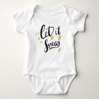 Body Para Bebê Deixais lhe para nevar bebê