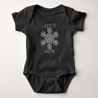 Body Para Bebê Deixais lhe para nevar Bodysuit do bebê