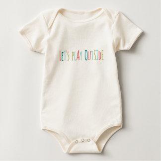 Body Para Bebê Deixe-nos jogar fora