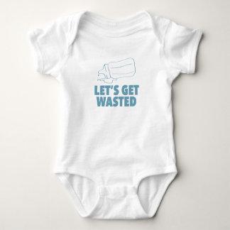 Body Para Bebê Deixe-nos obter desperdiçados