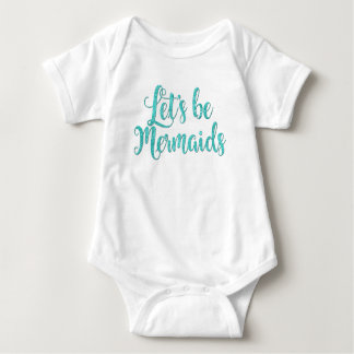 Body Para Bebê Deixe-nos ser cerceta infantil do bodysuit das