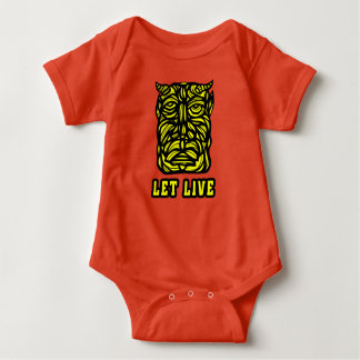 "Body Para Bebê ""Deixe"" o Bodysuit vivo do jérsei do bebê"