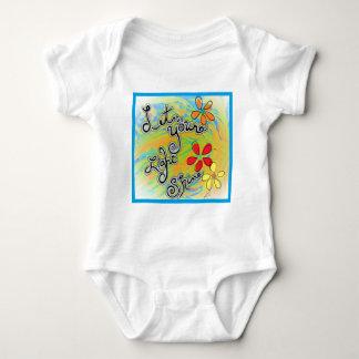 Body Para Bebê Deixe seu brilho claro