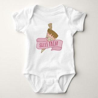 Body Para Bebê Deleite doce do sorvete da morango