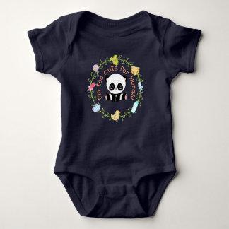 Body Para Bebê Demasiado bonito para a grinalda da panda do bebê