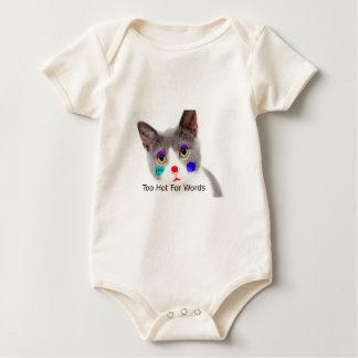 """Body Para Bebê """"Demasiado quente para gato das palavras"""" com"""