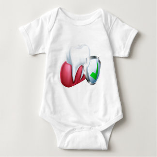 Body Para Bebê Dente e goma do protetor