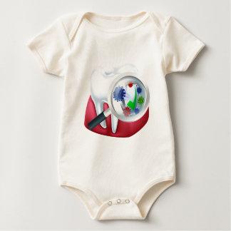 Body Para Bebê Dente protegido e conceito da goma