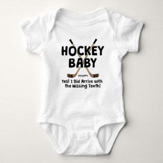 Body Para Bebê Dentes faltantes do bebê engraçado do hóquei